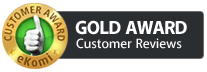 Ekomi Gold Award for Customer Reviews