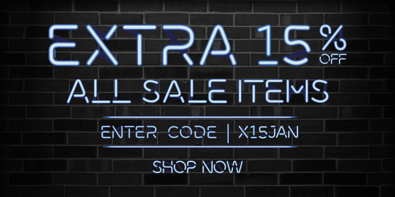 Extra 15% off All Sale Items - Enter Code: X15JAN
