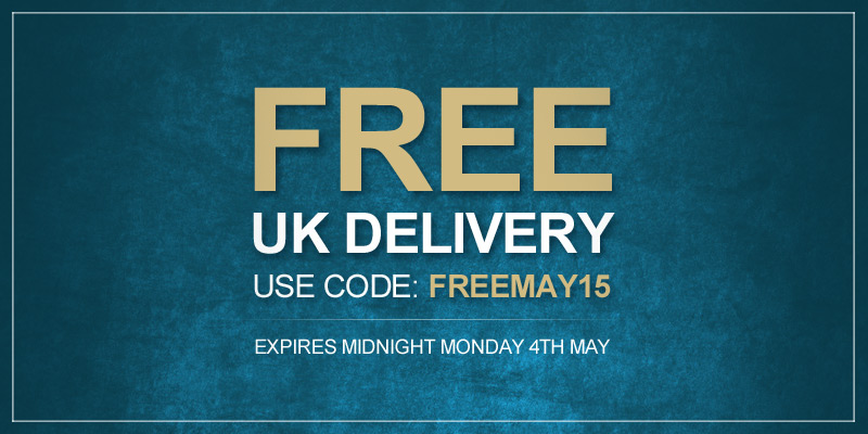 Free Delivery This Bank Holiday - Use Code FREEMAY15