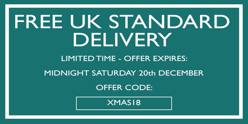Free Standard UK Delivery Until Midnight Saturday