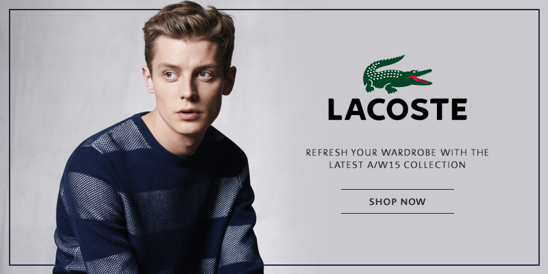 Autumn Winter 2015 Lacoste Online Now