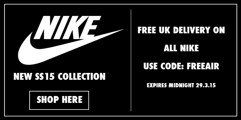 Free Delivery on All Nike Trainers using code FREEAIR
