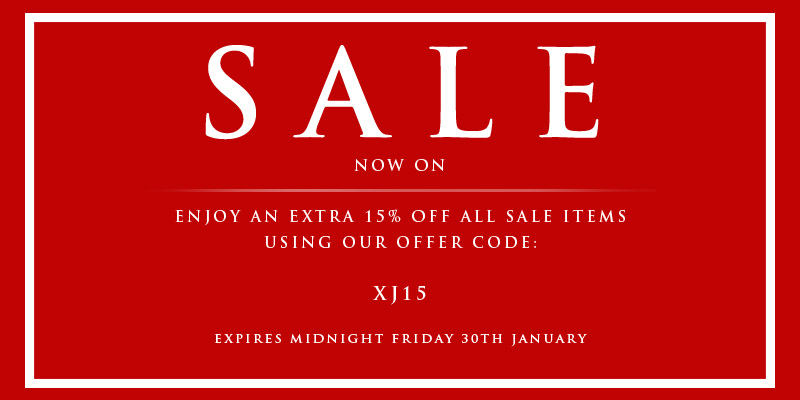Extra 15% Off All Sale Items - Use Code XJ15
