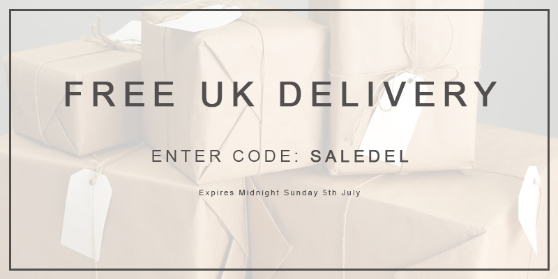 Free UK Delivery on ALL Orders - Use Code SALEDEL