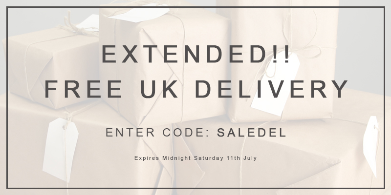 EXTENDED Free UK Delivery on ALL Orders - Use Code SALEDEL