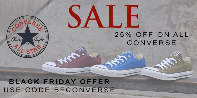 25% Off ALL Converse on Mainline Menswear