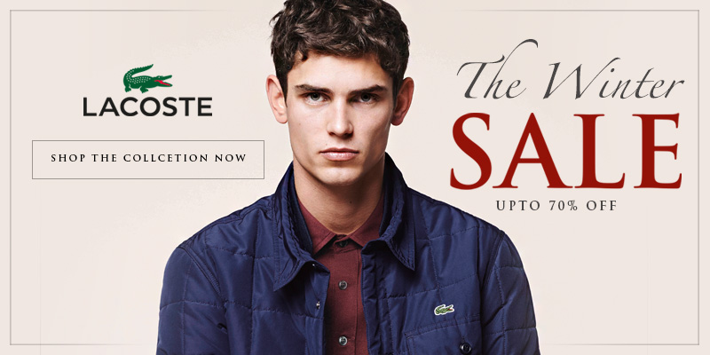 Final Reductions in the Winter Sale - Upto 70% Off Lacoste