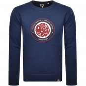 Pretty Green Like Minded Logo Sweatshirt Navy