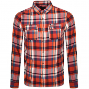 Superdry Lumberjack Long Sleeved Shirt Orange