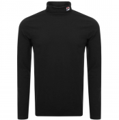 Fila Vintage Long Sleeve Roll Neck T Shirt Black