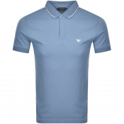 Emporio Armani Short Sleeved Polo T Shirt Blue