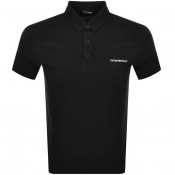 Emporio Armani Short Sleeved Polo T Shirt Black