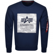 Alpha Industries Camo Block Sweatshirt Navy