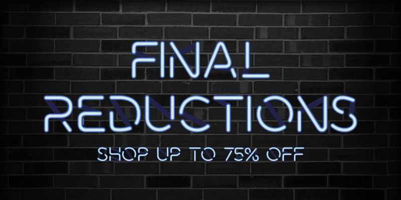 Final Reductions - Shop Up To 75% off