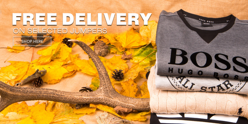 Free Delivery on Selected Jumpers, Hoodies and Knitwear
