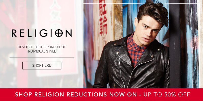 Upto 50% Off Religion at Mainline Menswear