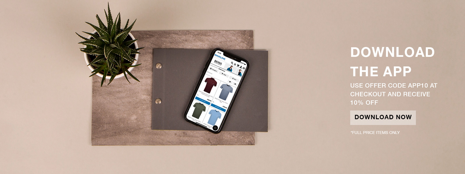 Download the Mainline Menswear app