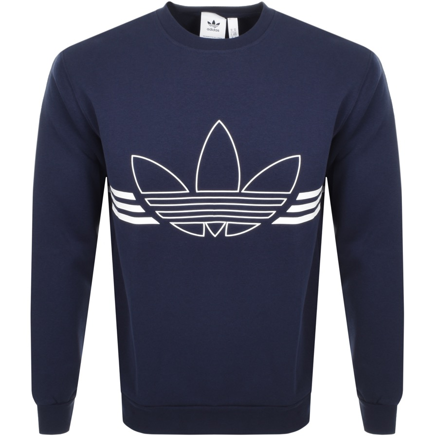 adidas Originals Outline Logo Sweatshirt Navy