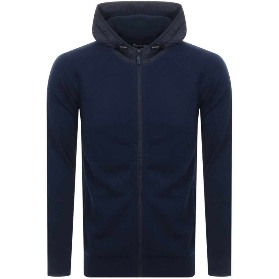Barbour Rampside Hooded Knit Jumper Navy