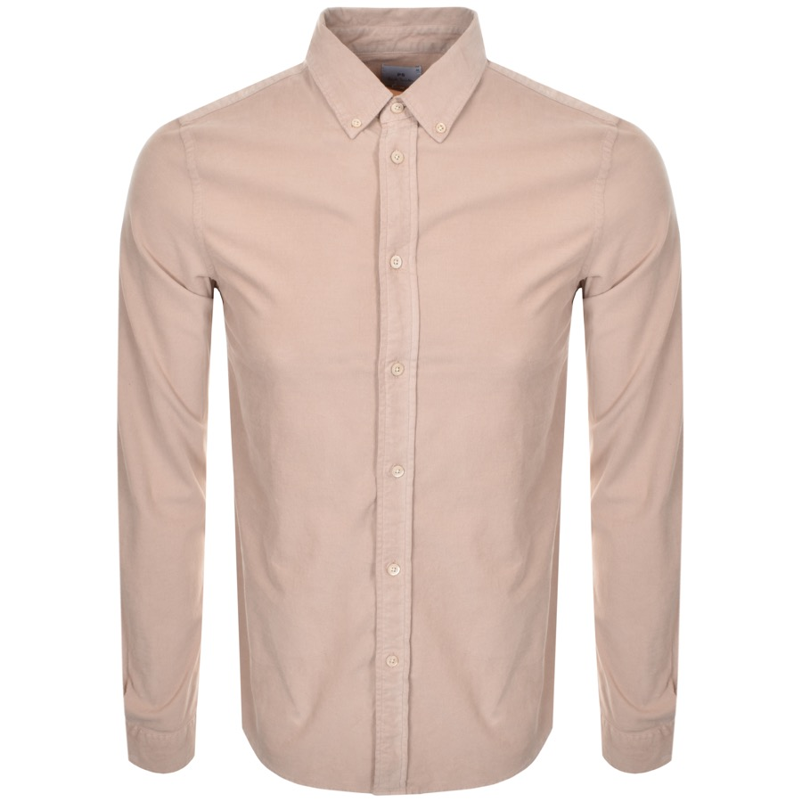 PS By Paul Smith Long Sleeved Corduroy Shirt Beige
