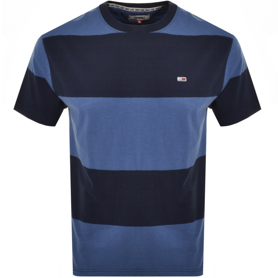Tommy Jeans Stripe T Shirt Blue