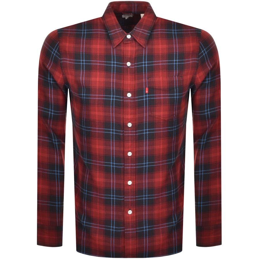Levis Long Sleeved Sunset One Pocket Shirt Red