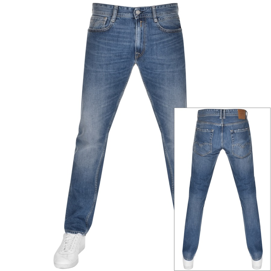 Replay Straight Fit Rob Jeans Blue