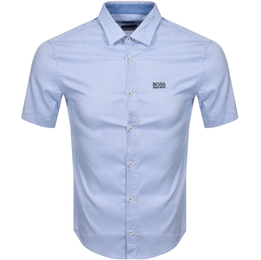 BOSS Athleisure Brodi S Short Sleeved Shirt Blue