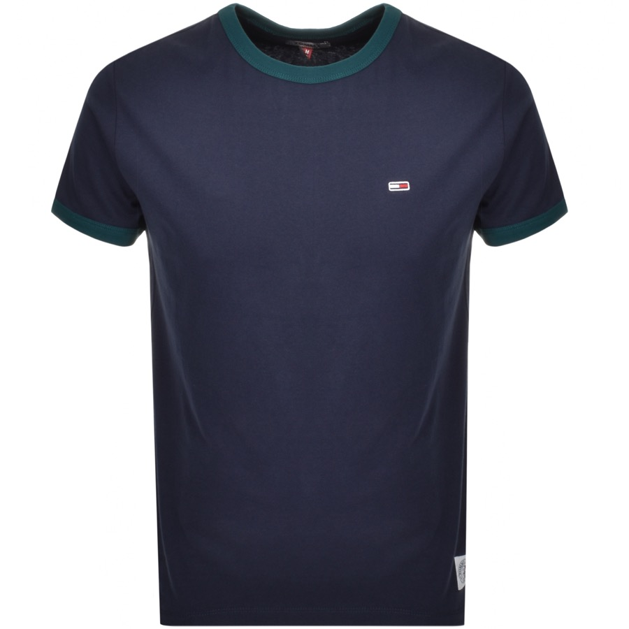 Tommy Jeans Ringer T Shirt Navy