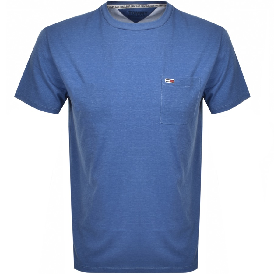 Tommy Jeans Washed Logo T Shirt Blue