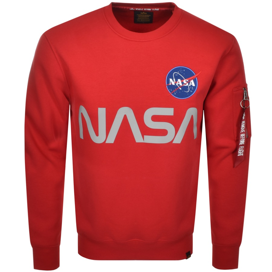 Alpha Industries NASA Reflective Sweatshirt Red