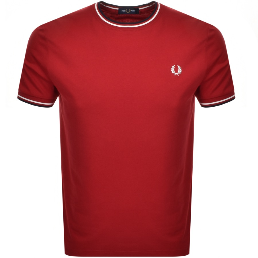 Fred Perry Twin Tipped T Shirt Red