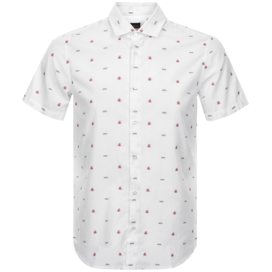 BOSS Casual Short Sleeved Rash Shirt White