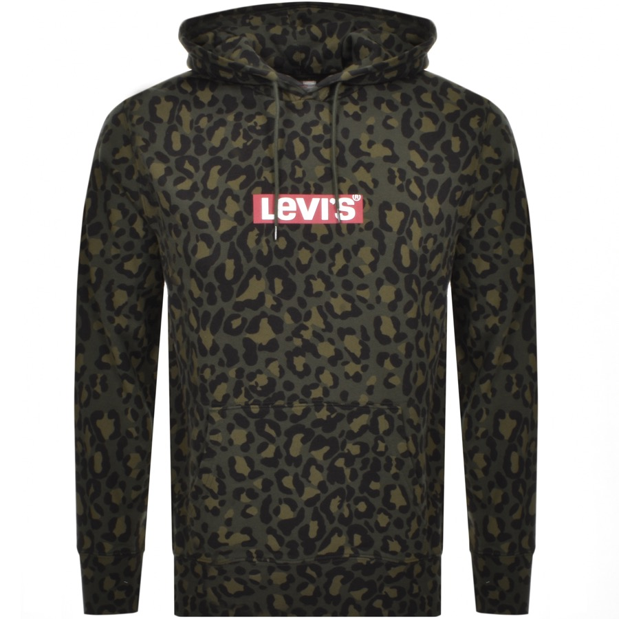 Levis Pullover Camouflage Hoodie Green