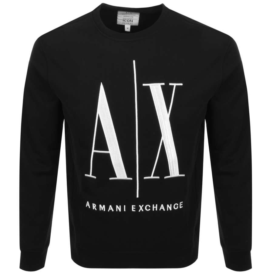Armani Exchange Crew Neck Logo Sweatshirt Black