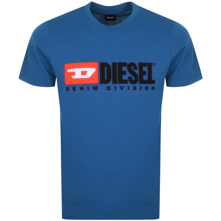 Diesel T Just Division T Shirt Blue