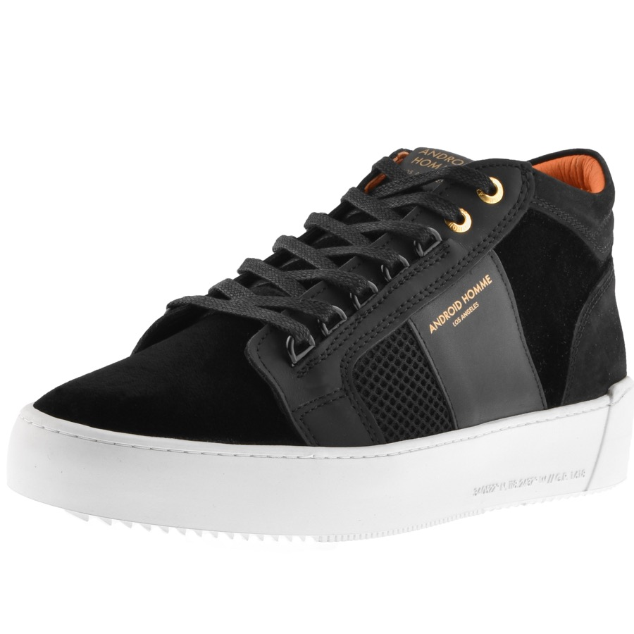 Android Homme Propulsion Velvet Mid Trainers Black
