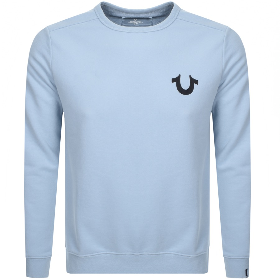 True Religion Logo Sweatshirt Blue