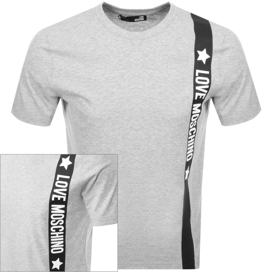 03128d3e2df10 Moschino Love Logo T Shirt Grey | ModeSens