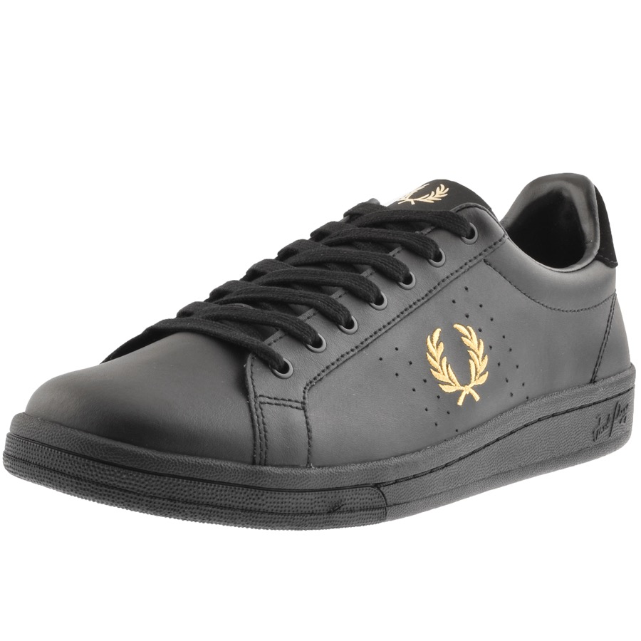 Fred Perry B721 Leather Trainers Black