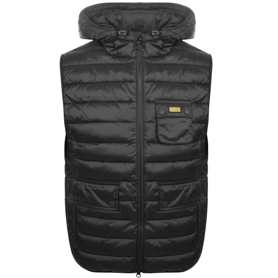 Barbour International Quilted Ousten Gilet Black