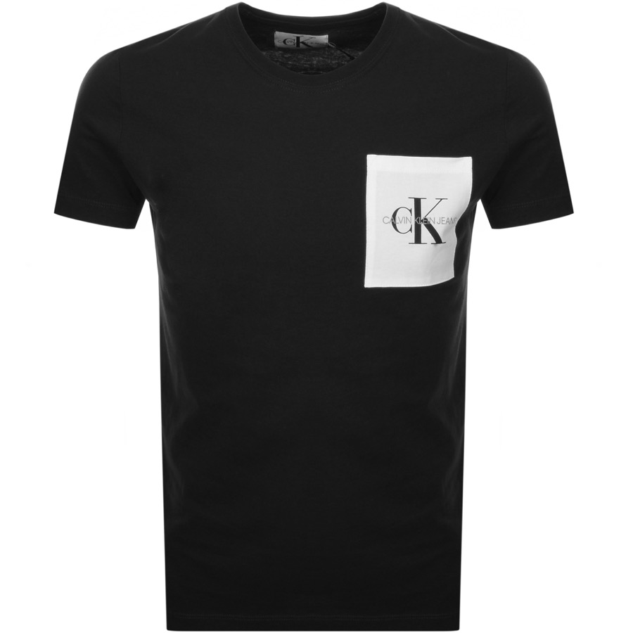 Calvin Klein Jeans Monogram Pocket T Shirt Black