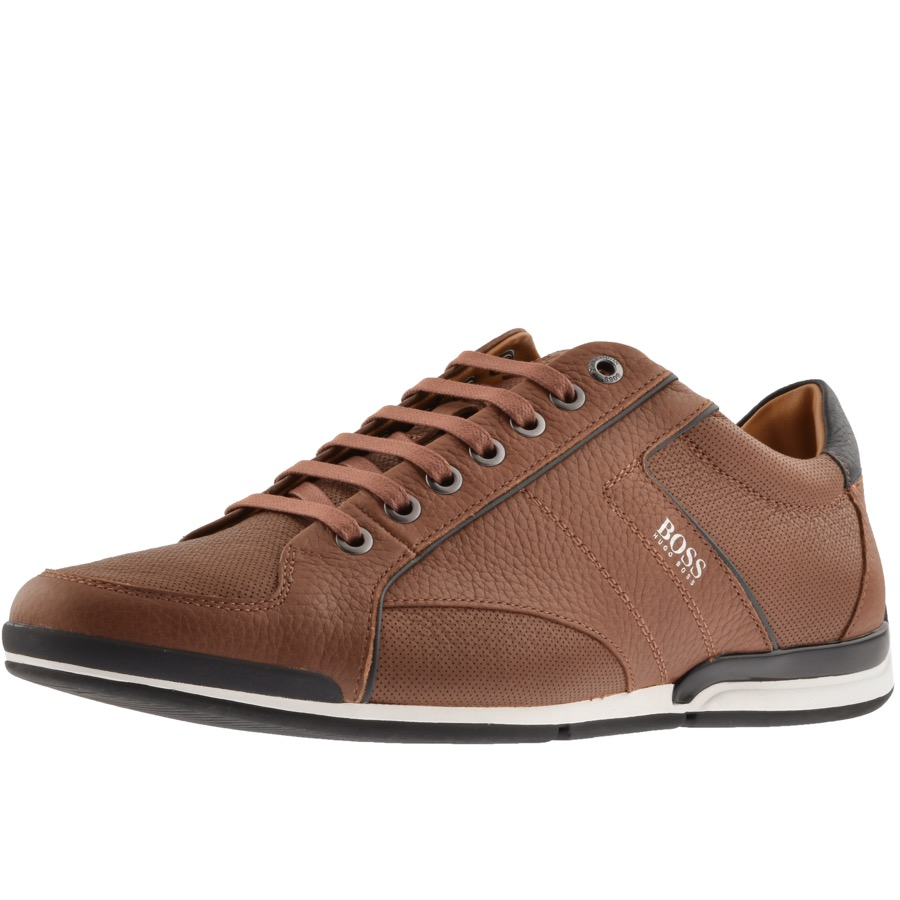 BOSS Casual Saturn Lowp Trainers Brown