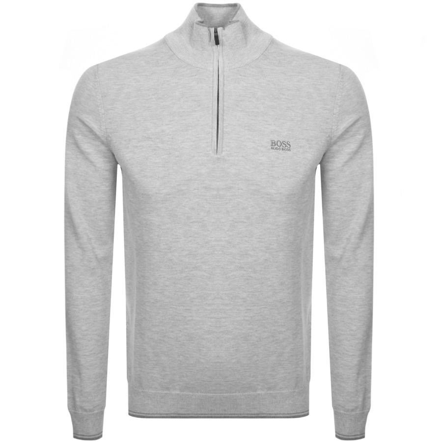 BOSS Athleisure Zimex Knitted Jumper Grey