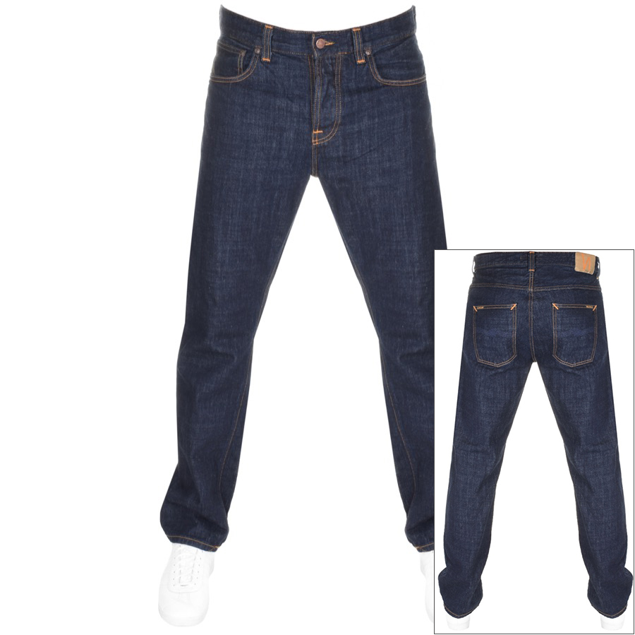 Nudie Jeans Sleepy Relaxed Straight Jeans Blue
