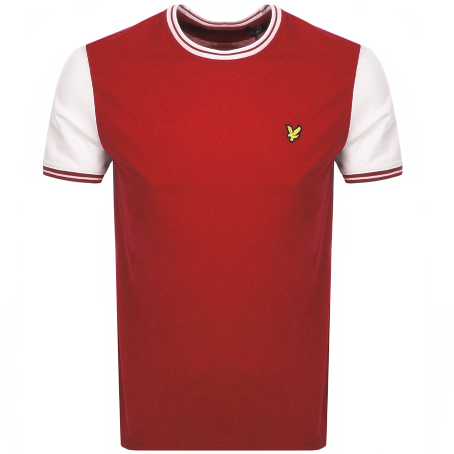 Lyle And Scott Crew Neck Tipped T Shirt Red