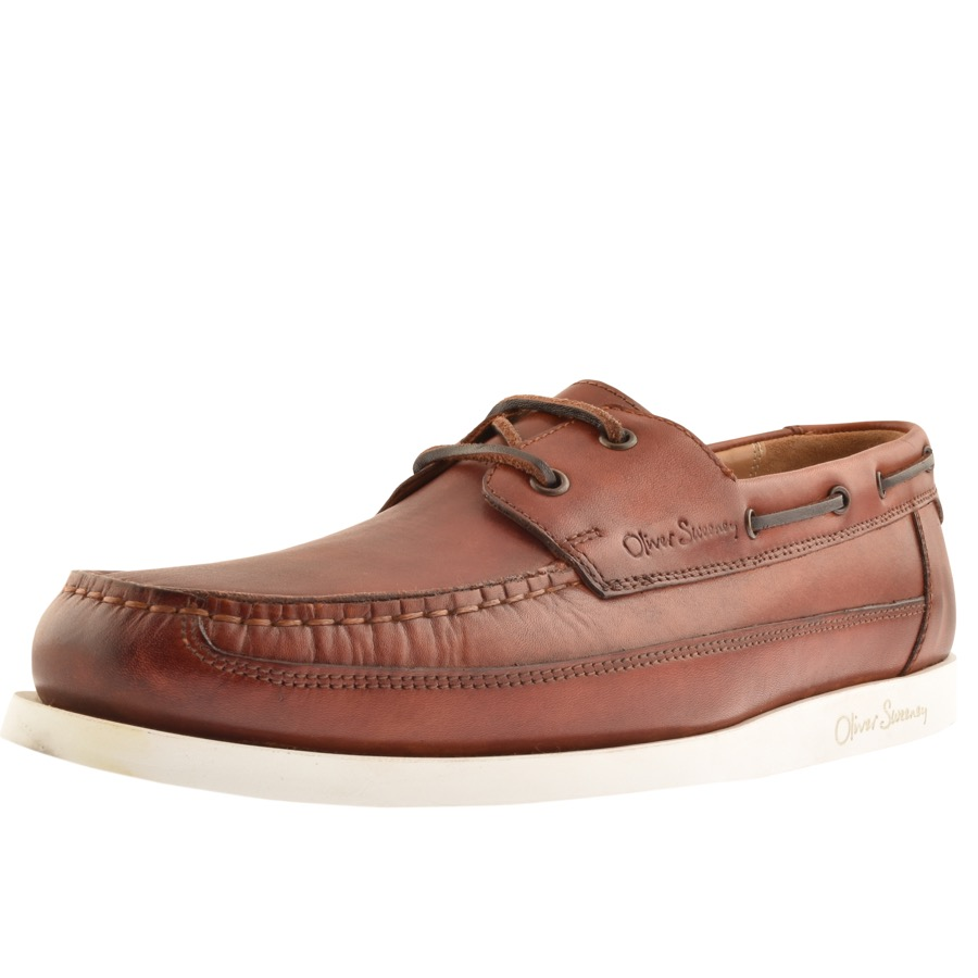 Sweeney London Lufton Boat Shoes Brown