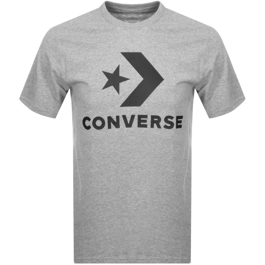 Converse Star Chevron Logo T Shirt Grey