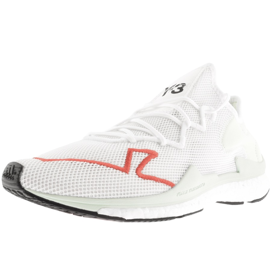 718a3a218708d Y-3 Adizero Runner Neoprene-Trimmed Mesh Sneakers In White ...