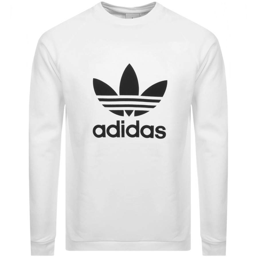adidas Originals Trefoil Logo Sweashirt White